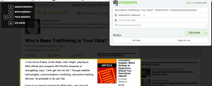 Evernote clipper extension for Chrome