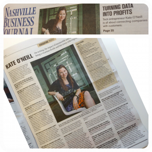 Kate's executive profile in the Nashville Business Journal